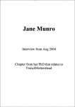 Jane Munro PhD chapter that relates to French & Mottershead (6 pgs) followed by an interview with the artists August 2004