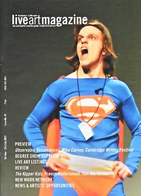 Philip Stanier My Word is My Bond Live Art Magazine May 2002