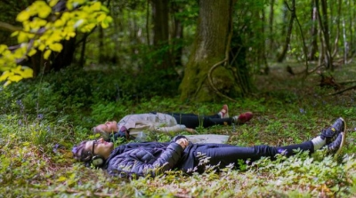 Woodland at 2019 Nuit Blanche, Brussels ' HUMAN >< NATURE' festival