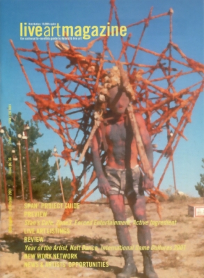 Joshua Sofaer  Friday Social Evening Live Art Magazine  Apr 2001