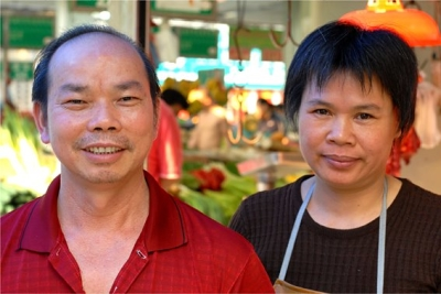 Pork Stalls, #13, Shipai Village market, Guangzhou